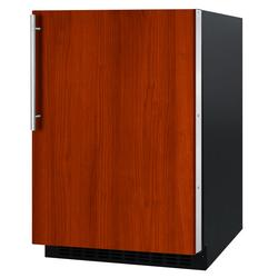"""Summit AL54IF 24""""W Undercounter Refrigerator w/ (1) Section & (1) Solid Door - Panel Ready, 115v"""