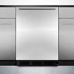 "Summit FF7BKBISSHHADA 23 5/8""W Undercounter Refrigerator w/ (1) Section & (1) Solid Door - Stainless Steel, 115v"