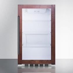 "Summit SPR489OSCSSPNR 19""W Undercounter Outdoor Refrigerator w/ (1) Section & (1) Glass Door - Panel Ready, 115v"
