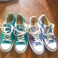 Converse Shoes | Lot: Converse (2 Pairs) And 1 Pair Of Vans | Color: Black/White | Size: 10