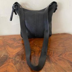 Coach Bags | Coach Legacy Black Leather Slimline Purse Crossbod | Color: Black/Silver | Size: Os