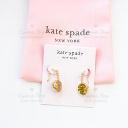 Kate Spade Jewelry   Kate Spade Reflecting Pool Pav Round Drop Earring   Color: Gold/Yellow   Size: Os