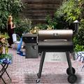 Z Grills Offset Wood Smoker & GrillCast Iron in Brown/Gray, Size 51.0 H x 48.0 W x 26.0 D in | Wayfair 7002F