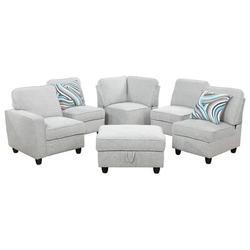 """Latitude Run® Joelaine 104"""" Wide Velvet Corner Sectional w/ Ottoman Upholstery/Velvet in Gray, Size 35.0 H x 104.0 W x 31.0 D in   Wayfair"""