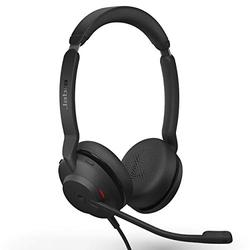 Jabra Evolve2 30 MS Wired Headset, USB-C, Stereo, Black – Lightweight, Portable Telephone Headset with 2 Built-in Microphones – Work Headset with Superior Audio and Reliable Comfort