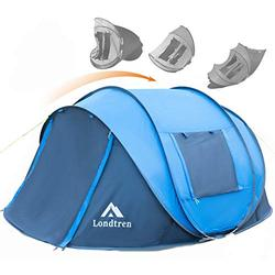 Pop Up Tent Pop Up Tents for Camping 4 Person Waterproof Tent Popup Tent Camping Easy Up Camping Tents Instant Pop Up Tent Pop Up Camping Tent Four Person Tent Easy Pop Up Tent Pop-Up Tent Big Blue
