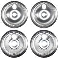 Replacement Drip Pans Compatible with GE WB32X107, WB32X106 4 Piece Set - (2) 6 Inch & (2) 8 Inch