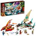 LEGO NINJAGO Catamaran Sea Battle 71748 Building Kit; Ninja Playset Featuring Catamaran Toys and NINJAGO Kai, Jay and Zane; Best Gift for Kids Who Love Creative Play, New 2021 (780 Pieces)