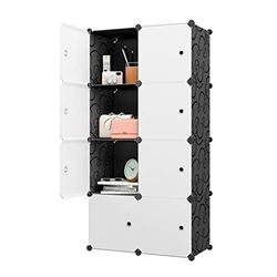 "KOUSI Large Cube Storage -14""x18"" Depth (8 Cubes) Organizer Shelves Clothes Dresser Closet Storage Organizer Cabinet Shelving Bookshelf Toy Organizer"