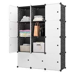 "KOUSI Large Cube Storage -14""x18"" Depth (12 Cubes) Organizer Shelves Clothes Dresser Closet Storage Organizer Cabinet Shelving Bookshelf Toy Organizer"