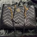 Gucci Bags | Gucci Bag (Large Gg Marmont Matelasse Tote Bag) | Color: Black | Size: Os