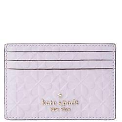Kate Spade Accessories   Kate Spade Hollie Spade Clover Slim Card Holder   Color: Purple   Size: Os