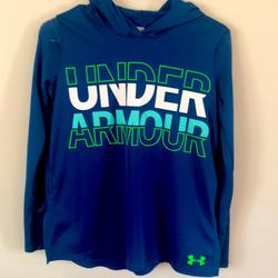 Under Armour Shirts & Tops | Boys Youth Under Armour Sweatshirt | Color: Blue/Green | Size: Boys Youth Xl 14-16