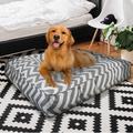 Tucker Murphy Pet™ Brixton Pet Wave Extra Plush Shag Faux Fur Sicilian Pillow Polyester in Gray, Size 6.0 H x 28.0 W x 24.0 D in   Wayfair