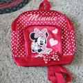 Disney Accessories | Disney Minnie Mouse Backpack | Color: Red/White | Size: Osbb