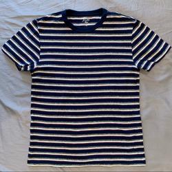 J. Crew Shirts | J Crew Slub Cotton Crewneck T-Shirt | Color: Blue/White | Size: S