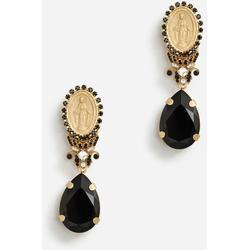 Pendant Earrings With Votive Decorations And Rhinestones - Metallic - Dolce & Gabbana Earrings