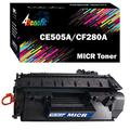 4Benefit 1-Pack Compatible MICR Toner CE505A CF280A 05A 80A for Tax Season Check Processing Work in Laserjet Pro 400 M401a M401d M401n P2030 2035 P2050 Printer
