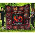 Dragon Quilt - People Should Seriously Quilt - Red Dragon Picture Quilt Twin Size - Quilt Patterns All-Season Quilts Comforters with Cotton - King Queen Twin Size Beach Trips, Gifts Quilt