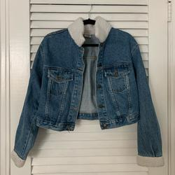 Urban Outfitters Jackets & Coats   Fredericks Of Hollywood Denim Fur Trim Jacket   Color: Red   Size: M