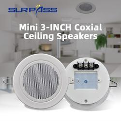 Haut-parleur de plafond résistant à l'humidité, Mini haut-parleur mural, klaxon de toit de 3 pouces,