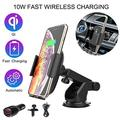 Betka Car Wireless Charger Bracket Fast Wireless Charger car Base QI Wireless Charger Compatible with Smartphone Charging with Wireless Charging Function-Black