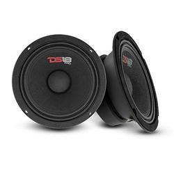 """DS18 2X PRO-GM6SE Loudspeaker - 6.5"""", Midrange, Sealed Back, 380W Max, 90W RMS, 8 Ohms - Premium Quality Audio Door Speakers for Car or Truck Stereo Sound System (2 Speakers)"""