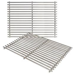 7521 15 x 11 1/4 Inch Grill Grates for Weber Spirit 200, E210, Genesis Silver A, Spirit 500 Grills with Side Control, Heavy Duty Stainless Steel, 7522
