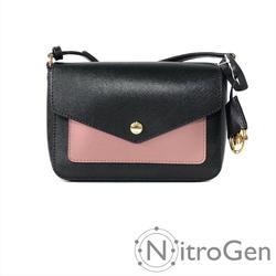 Michael Kors Bags | Michael Kors Greenwich Small Flap Crossbody | Color: Black/Pink | Size: Os