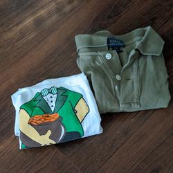 Polo By Ralph Lauren Shirts & Tops | Leprechaun Shirt And A Polo Shirt 4t | Color: Green/White | Size: 4tb