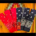 Levi's Accessories | New! Six Classic Levi Brand Bandannas | Color: Blue/Red | Size: One Size