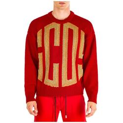 Men's Crew Neck Neckline Jumper Sweater Pullover - Red - Gcds Knitwear