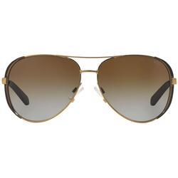 Collection 59mm Polarized Aviator Sunglasses - Metallic - Michael Kors Sunglasses