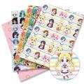 Tissu imprimé Sailor Moon en Polyester et coton, 140x50CM, étoffe à imprimés, couture et patchwork