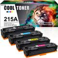 Cool Toner Compatible Toner Cartridge Replacement for HP 215A W2310A Toner for HP Color Laserjet Pro M182NW HP Color Laserjet Pro MFP M183FW Printer Toner Ink (Black Cyan Magenta Yellow, 4-Pack)