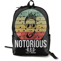 Notorious RBG RIP Ruth Bader Ginsburg Backpack Travel Laptop Backpack, College School Book Bag Casual Hiking Daypack Computer Bag Gift for Men & Women Fits 15 Inch Notebook