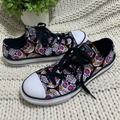 Converse Shoes | Girls Converse Black Candy Skull Shoes Size 3 | Color: Black/Pink | Size: 3g