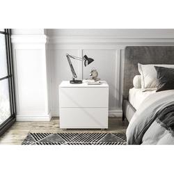 Wade Logan® Veans 2 - Drawer Nightstand Nightstand Wood in White, Size 22.0 H x 24.0 W x 16.0 D in   Wayfair F05F183F0BB24990A268768DB662501B