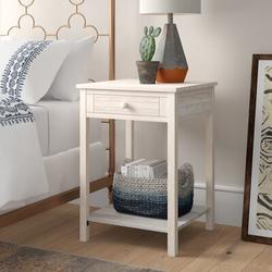 Mistana™ Lynn 1 Drawer Nightstand Wood in Brown/White, Size 30.0 H x 21.0 W x 21.0 D in   Wayfair D92A4A5EC2CB44F38233260775296BBB