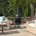 "Kelly Clarkson Home Clayton Steel Wood Burning Chiminea, Steel in Black, Size 60""H X 22""W X 22""D | Wayfair 517EE4B87D814515B97F253A0A24BC49"