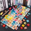 Jouets éducatifs Montessori en bois pour enfants, Puzzle de Cognition numérique en forme