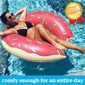 Anneau de natation gonflable d'été en PVC épaissi, bouée de piscine, matelas, siège d'été, jouet