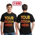 Impression numérique Votre PROPRE Conception pour deux côtés Logo/Image T-shirt Personnalisé Hommes