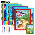 1 pièces livre magique dessin à l'eau Montessori coloriage dessins animés livres Doodle stylo