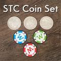 STC – Ensemble de pièces de monnaie en argent, tours de magie en close-up, accessoire gimmick pour