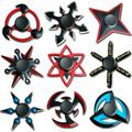Spinner à main Ninja Shuriken en alliage de Zinc pour enfant, jouet créatif anti-Stress, accessoire