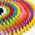 Blocs de Domino en bois de construction, Kits de jouets avec tri des couleurs, jeu éducatif de