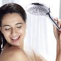 Zhangji salle de bain pomme de douche 5 Modes ABS plastique grand panneau rond Chrome tête de pluie
