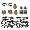 Figurines de Police Playmobil City, 2 pièces, armes de soldats des Forces spéciales russes modernes,