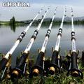 GHOTDA — Canne à pêche Spinning télescopique, en FRP et fibre de carbone, 2,1 à 3,6 m, blanc,
